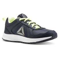 Reebok ALMOTIO 4.0 Running Shoes Boys Collegiate Navy/Electric Flash/Pewter (239JRDPL)
