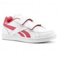 Reebok Royal Prime Shoes Girls White/Twisted Pink/Light Pink (244NDLPW)