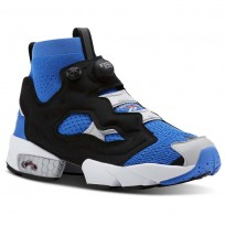 Reebok InstaPump Fury Shoes For Men Blue/Grey/Red (247PWUXD)