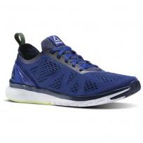 Reebok Print Smooth Running Shoes Mens Deep Cobalt/Collegiate Navy/Electric Flash/White (247TIKXJ)