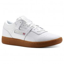 Reebok Club Workout Shoes Mens Gum-White/Skull Grey (252MUFWZ)