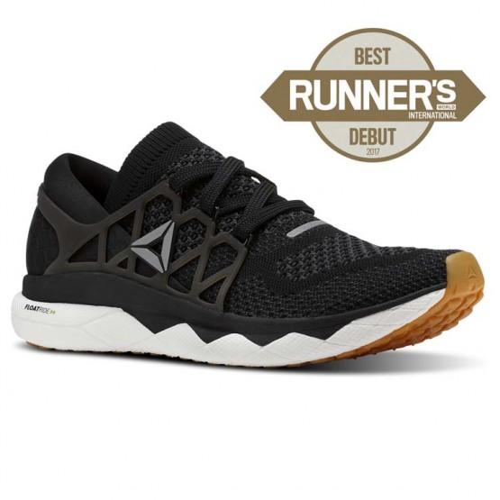 Reebok Floatride Run Running Shoes Mens Black/Gravel/White/Gum (252QOEMX)