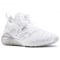 Reebok The Pump Izarre Studio Shoes Womens White/Steel/Tin Grey/Ash Grey (256CSRDY)
