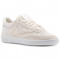 Reebok Club C 85 Shoes Womens Pale Pink/White/Powder Grey (257KYCPM)