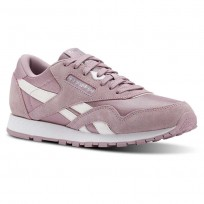 Reebok Classic Nylon Shoes Girls Infused Lilac/White/Silver (264RVYZK)