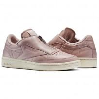 Reebok Club C 85 Shoes Womens Shell Pink/Paper White/Met Silver/Chalk (265GFDWN)