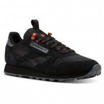 Chaussure Reebok Classic Leather Homme Noir (265YUJZR)