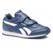 Reebok Royal Classic Jogger Shoes Kids Bunker Blue/White (266AGVUZ)