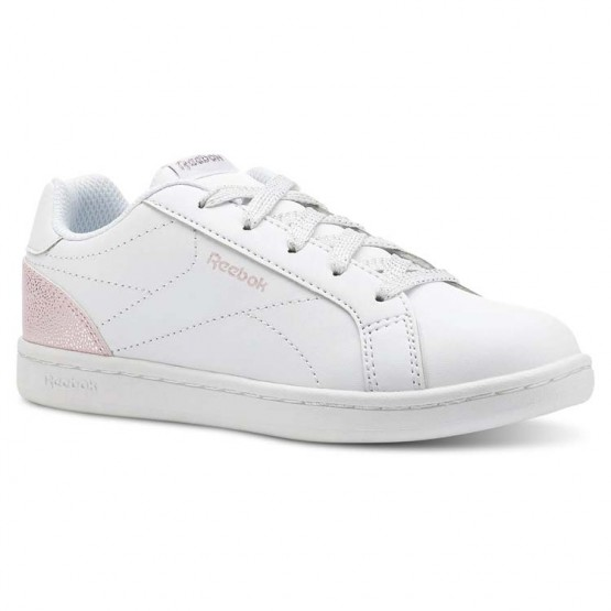 Reebok Royal Complete Shoes Girls Pastel-White/Practical Pink/Silver (268OYVEL)