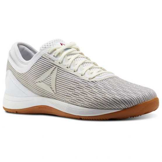 Reebok CrossFit Nano Shoes Womens White/Classic White/Excellent Red/Blue (268PHFAD)