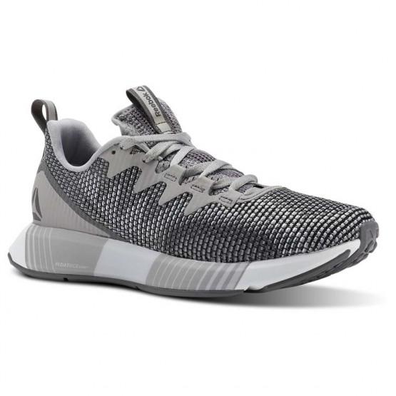 Reebok Fusion Flexweave Running Shoes Womens Tin Grey/Shark/Spirit White (269JFZLP)
