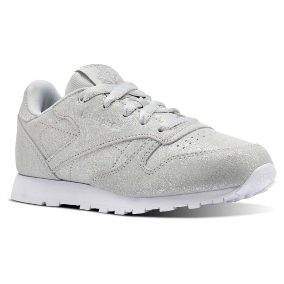 Chaussure Reebok Classic Leather Fille Argent/Grise/Blanche (271CQABW)