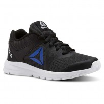 Reebok Rush Runner Running Shoes Boys Black/Vital Blue (271SITPK)
