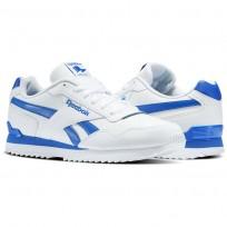 Reebok Royal Glide Shoes Mens White/Vital Blue (275GKIYL)