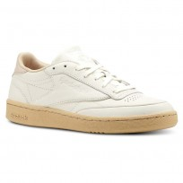 Reebok Club C 85 Shoes Womens Fld Edge-Chalk/Sahara/White (278XEWGI)