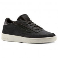 Reebok Club C 85 Shoes Womens Golden Neutrals-Coal/Black (280XUDLM)