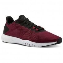 Reebok Flexagon Training Shoes Mens Rustic Wine/Black/Cranberry Red/White (286LECWB)