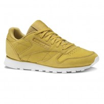 Reebok Classic Leather Shoes Womens Enh-Wild Khaki/Chalk (291NEGRB)
