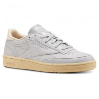 Reebok Club C 85 Shoes Womens Fld Edge-Tin Grey/Sahara/White (296QJBXF)