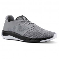 Reebok Print Running Shoes Mens Tin Grey/Foggy Grey/Coal/White (296WQITG)