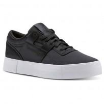 Reebok Workout Lo Shoes Womens Satin-Coal/White (297MEXZB)