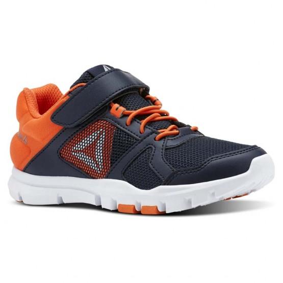 Reebok YourFlex Train 10 Training Shoes Boys Collegiate Navy/Bright Lava/White/Silver Met (299PRDXV)