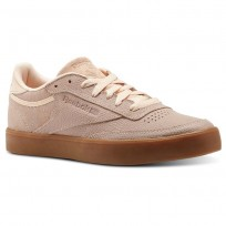 Reebok Club C 85 Shoes Womens Desert Dust/Gum (302UHPAB)