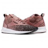 Reebok Zoku Runner Shoes Womens Black/Overtly Pink/White (306XMHUY)