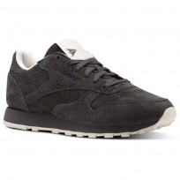 Reebok Classic Leather Shoes Womens Ash Grey/Pale Pink (310MSLGO)
