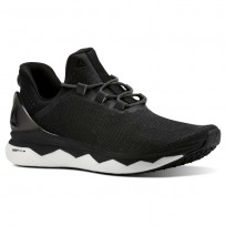 Reebok Floatride Run Smooth Running Shoes Mens Strtch-Black/White/Tin Grey (310UCMGE)