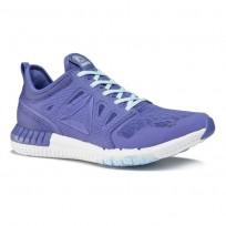 Reebok ZPrint 3D Running Shoes Womens Lilac Shadow/Fresh Blue/White/Pewter (313CXTKE)