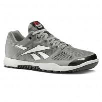Reebok CrossFit Nano Shoes Womens Tin Grey/White/Black/Gravel (315ZQNAW)