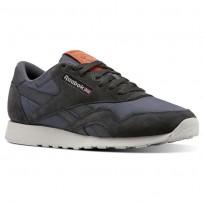 Reebok Classic Nylon Shoes Mens Top-Coal/Soft Black/Skull Grey/Mars Dust (318IKNYF)