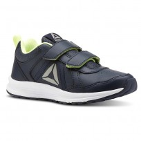 Reebok ALMOTIO 4.0 Running Shoes Boys Collegiate Navy/Electric Flash/Pewter (325YZUPT)