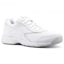 Reebok Walk Walking Shoes Mens White/Steel (328SRONG)