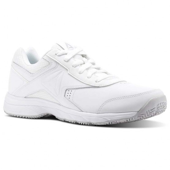 Reebok Walk Walking Shoes Mens White/Steel (328SRONG)