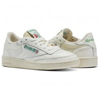 Reebok Club C 85 Shoes For Women Green/White/Red (330OGXSU)