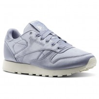Chaussure Reebok Classic Leather Femme Violette/Blanche (332RIPZM)