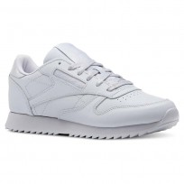 Reebok Classic Leather Shoes Womens Cloud Grey (336XMAFT)