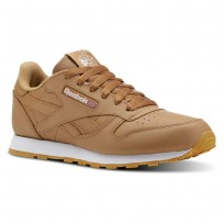 Chaussure Reebok Classic Leather Enfant Marron/Blanche (336YRECS)