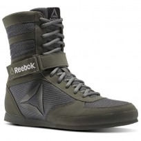 Reebok Boxing Tactical Shoes Mens Green/Iron Stone/Black (339OJUNQ)