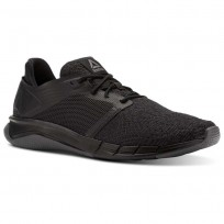Reebok Print Running Shoes Mens Black/Ash Grey (340CHGWD)