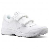 Reebok Walk Walking Shoes Mens White/Steel (341MDPQY)