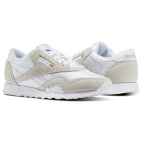 Reebok Classic Nylon Shoes For Men White/Light Grey (345XPCIV)