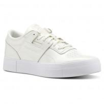 Reebok Workout Lo Shoes Womens Shny Suede-White/Chalk (346SLCKU)