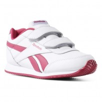 Reebok Royal Classic Jogger Shoes For Girls White/Rose (351JDQLS)