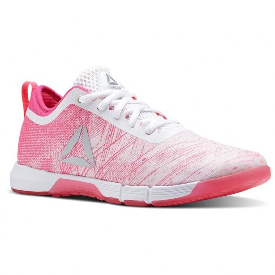 Reebok Speed Training Shoes Womens Pale Pink/Acid Pink/White/Silver (352QWREV)