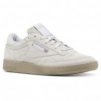 Reebok Club C 85 Shoes Mens Nm-Skull Grey/Super Neutral/White (352XFVKT)