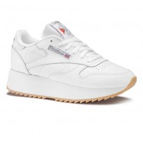 Chaussure Reebok Classic Leather Femme Blanche/Argent (356XSHBM)