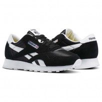 Reebok Classic Nylon Shoes For Kids Black/White (357FBEOS)